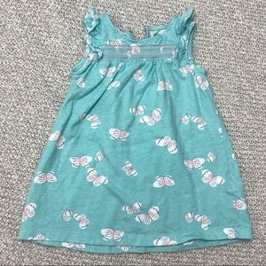 Carter's Blue Sleeveless Butterfly Toddler Dress